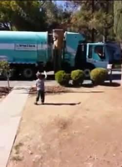 ゴミ収集員からのサプライズプレゼント