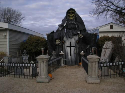 怖すぎるハロウィンの家の飾付