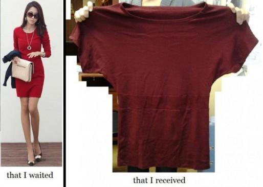 面白画像 ネットで服を買った結果