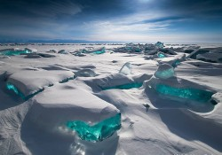 【画像】自然が創った美しい氷と雪のアート