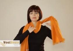 ストール/スカーフ/マフラーなどの巻き方20パターンの動画