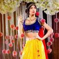 ディズニープリンセスをモチーフにしたインドの花嫁衣裳が美しい