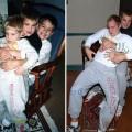 【面白画像】3兄弟が母へのプレゼントのため子どもの頃の写真を再現。