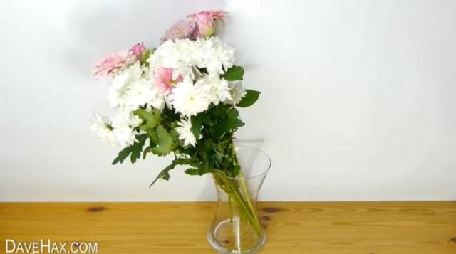 【ライフハック】花束をもらって花瓶に入れると。。。