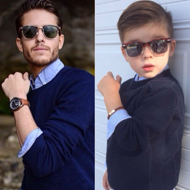 4歳の息子に男性ファッションモデルと同じ恰好をさせてみたら最高にクールだった!