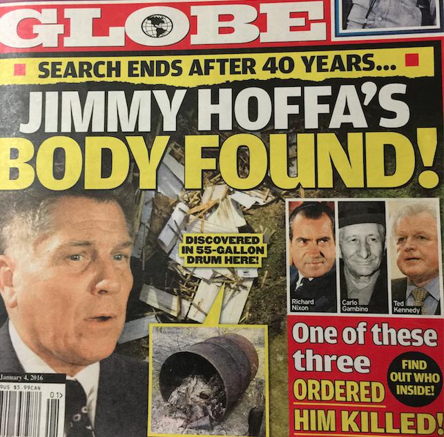 ジミー・ホッファ、死亡